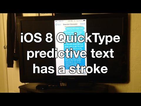 iOS 8 QuickType predictive text has a stroke