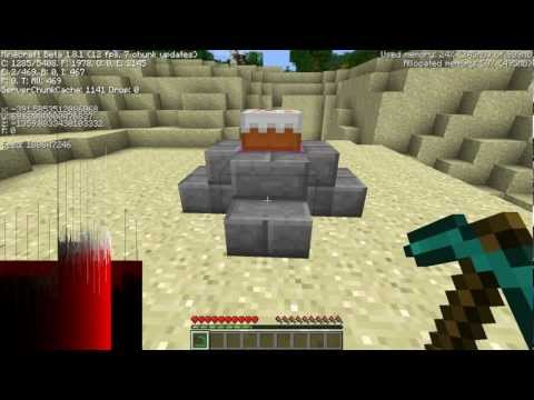 Minecraft 1.8 - Cracked/Mossy Stone Bricks from Brick Stairs