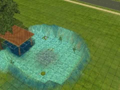 How to create a swimmable lake/pond on SIMS 2.