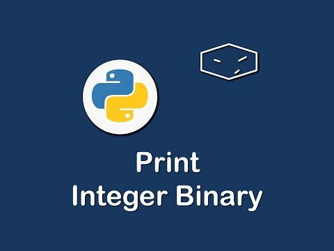 Convert Integer To Binary String In Python Printing Int In Python
