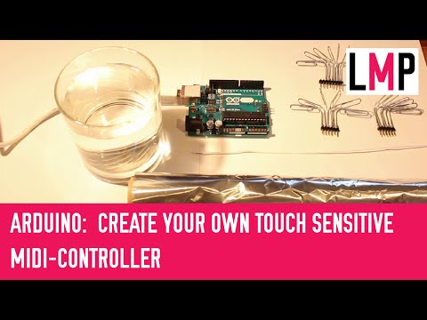 Create your own touch sensitive MIDI controller with Arduino