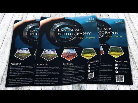 Illustrator tutorial - Landscape photography flyer template