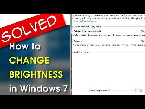 [SOLVED] Windows 7 Change Brightness of Screen | A How-To Tutorial