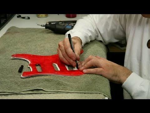 How to Cut a Guitar's Pickguard : Guitar Building & Repair