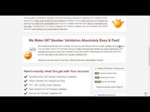 Bulk VAT Number Checker