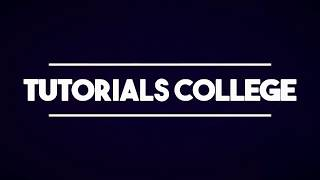 Tutorials College is a channel dedicated Programming Language Tutorials, Tech reviews