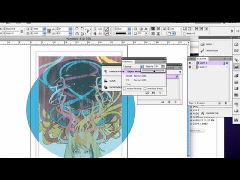 How to Change the Transparency of Objects in InDesign : InDesign Tutorials