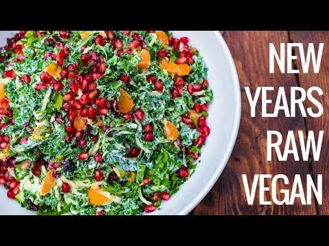 New Year's Recipe | Pomegranate Citrus Tahini Salad (Raw Vegan)