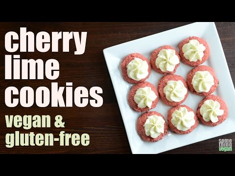 cherry lime cookies (vegan & gluten-free) Something Vegan