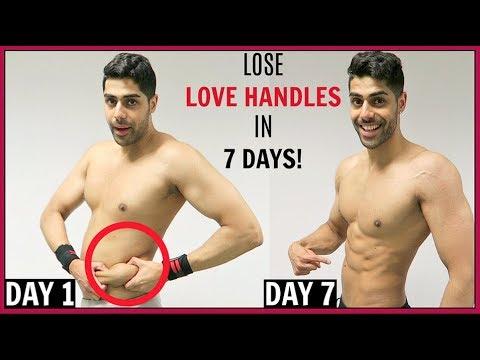 How To Lose LOVE HANDLES In 1 Week - 100% WORKS!!