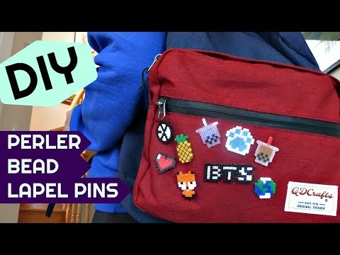Easy DIY Mini Perler Bead Lapel Pins