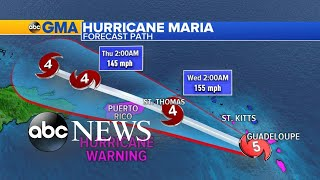 Hurricane Maria slams the Caribbean