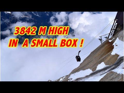 Thrilling Mont Blanc Aiguille Du Midi cable car ride!