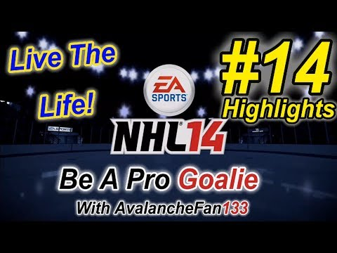 NHL 14 - Be A Pro - Goalie - Episode 14: My First NHL Game *Highlights*
