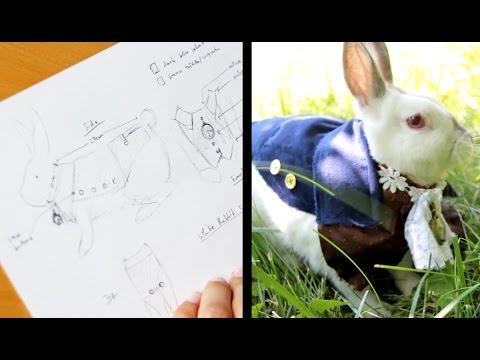 Sketchbook: White Rabbit Costume for Alice in Wonderland