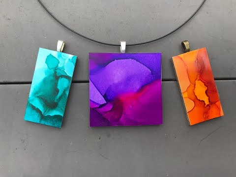 How To Make A Pendant Using Alcohol Ink And Yupo Paper