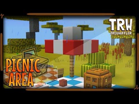 ▶How to make a Picnic Area 》Minecraft pe