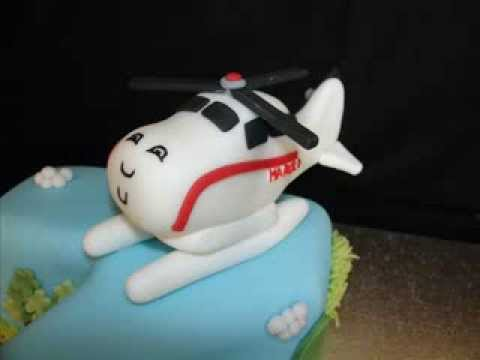 Harold Helicopter Fondant Cake