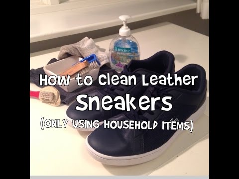 How to Clean Leather Sneakers!!! (ONLY Using Household Items)