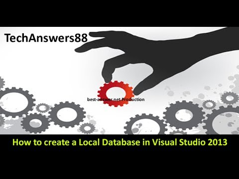 How to create a Local Database in Visual Studio 2013