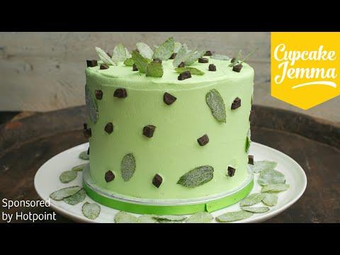 Epic Mint Choc Chip Layer Cake Recipe | Cupcake Jemma