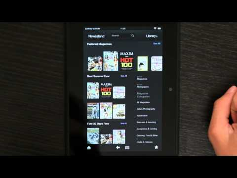 How to Read the Newspaper on the Kindle App : Kindle 3