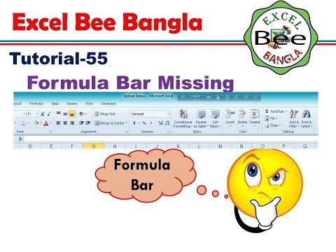 Formula Bar Missing