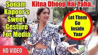 Sonam Kapoor Sweet Gesture For MEDIA | MUST WATCH | Cute Sonam Kapoor