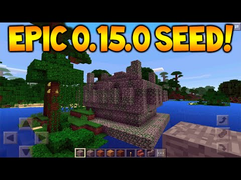 JUNGLE TEMPLE SEED!! Minecraft Pocket Edition 0.15.0 Seed - 6 Enchanted books, Temples + Villages