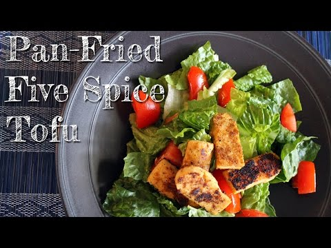 Crispy Pan-Fried Five Spice Tofu [ gluten-free + vegan]
