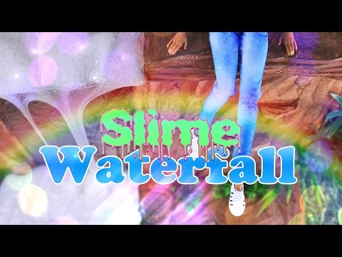 DIY - How to Make: Doll SLIME Waterfall PLUS | Borax Slime Recipe - Handmade Doll Crafts - 4K