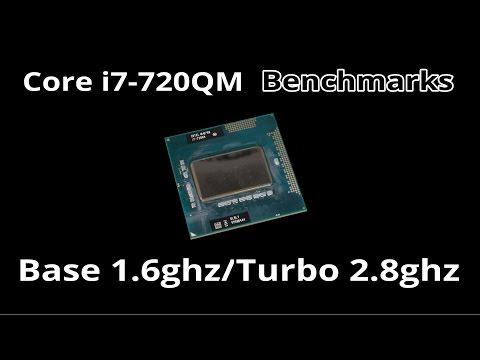 Intel Core i7-720QM First Gen Laptop i7 CPU Benchmarks - Cinebench/Geekbench