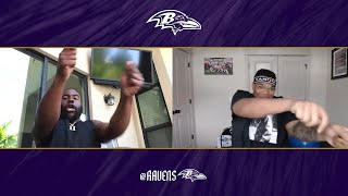 Watch Mark Ingram and Orlando Brown Jr.'s Big Reactions to Schedule Reveal | Baltimore Ravens