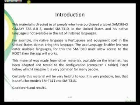 How to add a new language on Samsung Galaxy TAB 3 8.0