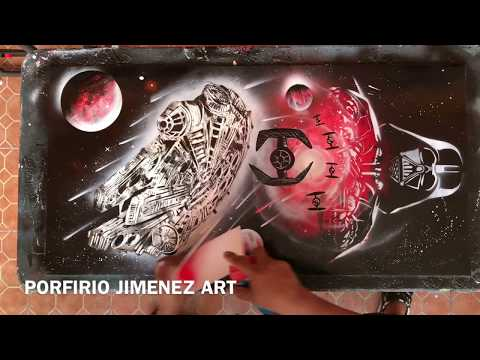 STAR WARS SPRAY ART TRIBUTE
