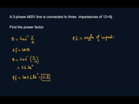 Find Power Factor Given Impedance
