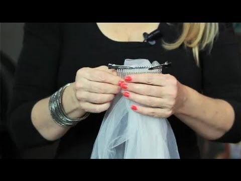 How to Connect a Wedding Veil to Your Hair Combs : Bridal Hair Upstyles