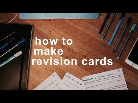 Making Great Revision Cards
