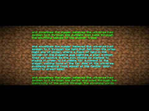 Minecraft end dialogue/credits *May contain Spoilers