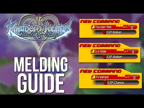 Kingdom Hearts Birth by Sleep - Thunder Roll, Ice Slide and Fire Cartwheel Melding Guide