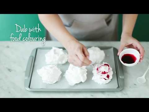 How to make Pink Marble Meringues