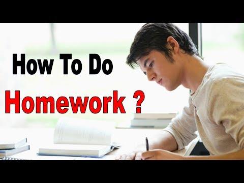 How to do Homework ? Homework kaise kare ?