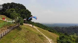 Uncle Raymond landing over Bukit Jugra