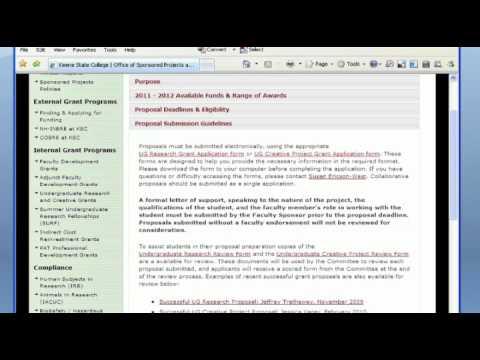 Preparing a Competitive Undergraduate Research/ Creative Project Grant Proposal