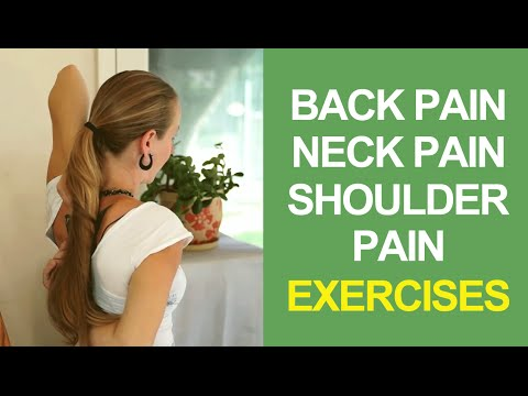 Stretches for Back Pain, Neck Pain and Shoulder Pain Relief at Home