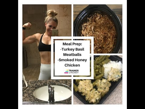 Meal Prep:  Turkey Meatballs and Smoked Honey Crockpot Chicken