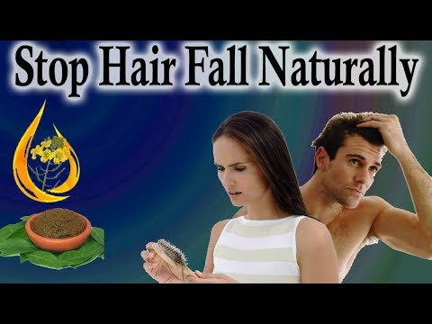 How To Stop Hair Fall And How To Grow Hair Faster Naturally  - DIY
