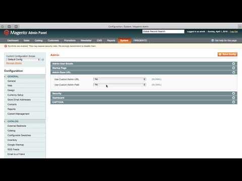 How to change Magento 1.9 admin URL