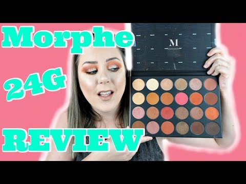 GRAND SLAM OR BLAND?! |  Morphe 24G Review + Eye Swatches | MakeupbyMegB