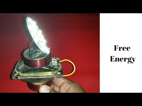 make free energy with speakers without battery 100 100% free _ new technology 2018 current affairs